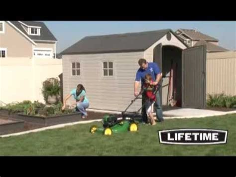 lifetime  plastic storage shed  youtube
