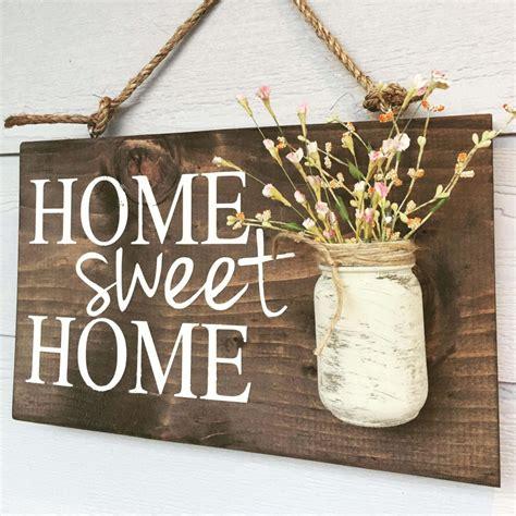 home sweet home sign  mason jar vase homebnc