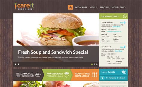 restaurant website layout design restaurant web designs 40 yummy cafe restaurant