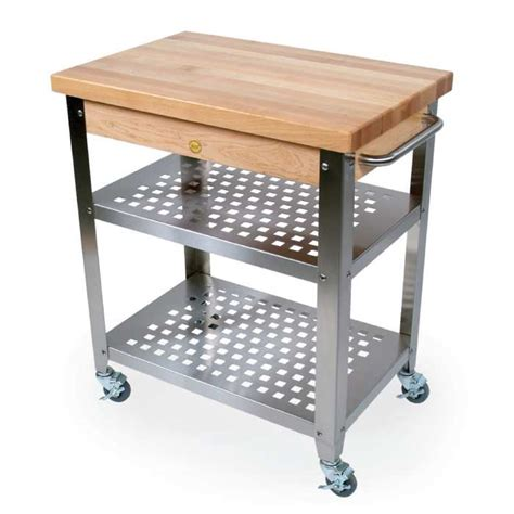 butcher block table on wheels get practical and movable carts with butcher blocks on