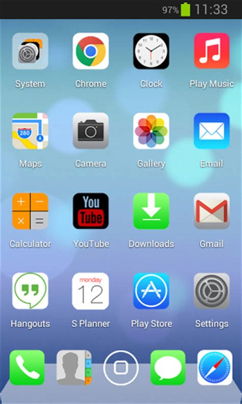 iphone themes for android apk next launcher ios7 iphone apk google play apps