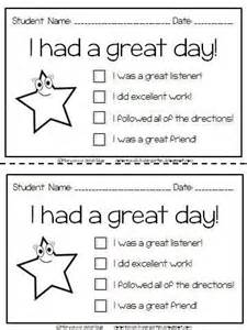 Daily Report Card Template For Adhd by 25 Best Ideas About Daily Behavior Report On