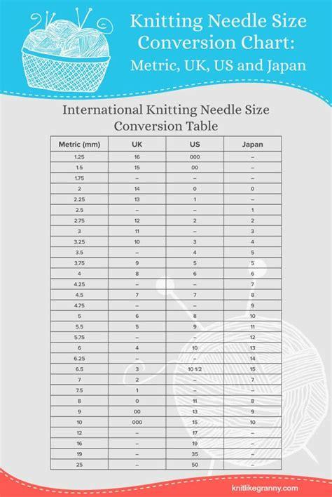 knitting needle conversion knitting needle conversion chart knit like knit