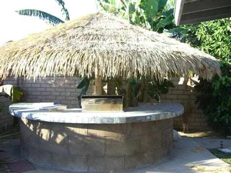 Buy Tiki Hut Plastic Fireproof Recycled Palm Leaf Roofing For Tiki Hut