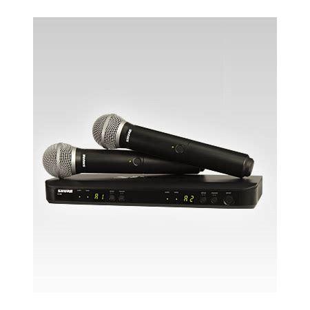 Mic Wireless Shure Blx 100 Multi Channel Handheld Legenda Artis shure blx288 pg58 h8 dual channel handheld wireless mic
