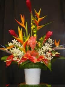 tropical flower arrangements centerpieces tropical flower centerpiece wedding retro bright neon