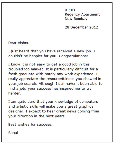 Exle Of Formal Congratulation Letter | sle congratulation letter 2 formal letters