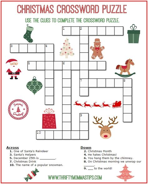 20 fun printable christmas crossword puzzles kitty baby love