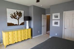 Gray Yellow Bedroom - a trendy color combo grey and yellow perfect for both bold and serene interiors