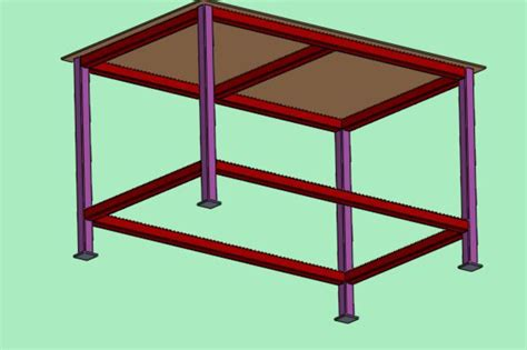 bench vice assembly bench vise table assembly solidworks 3d cad model grabcad