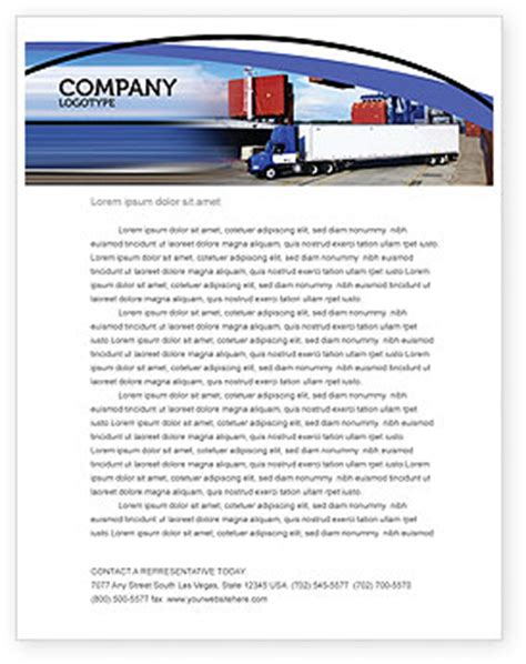 Advance Letter For Transportation Seaport Letterhead Template Layout For Microsoft Word Adobe Illustrator And Other Formats