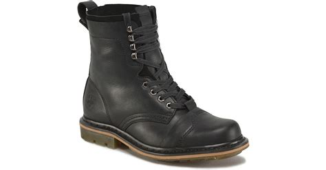 dr martens pier leather boots in black for lyst