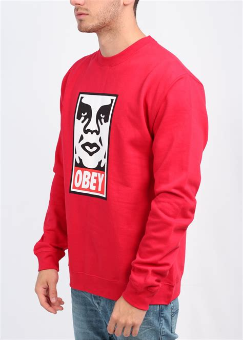 Sweater Basic Obey obey og crew sweater obey from triads uk