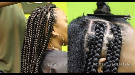 how to part hair for boxed braids how to jumbo box braids video black hair information
