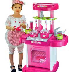 Pink electronic children kids kitchen cooking girl toy cooker play set