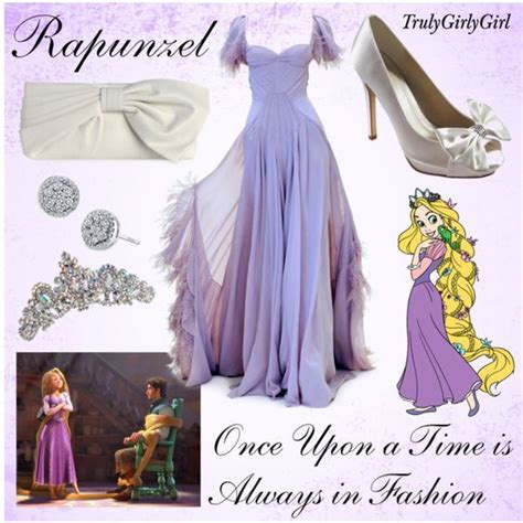 tangled theme prom disney style rapunzel created by trulygirlygirl on