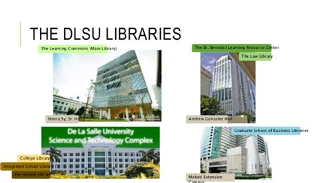 Dlsu Mba Program by Engineering Resources At The Dlsu Libraries A Usage Study