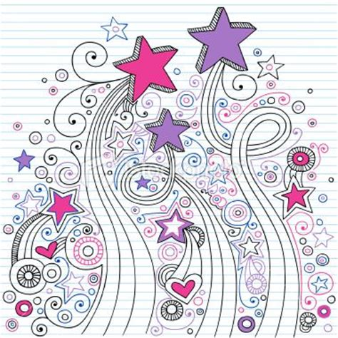 doodle paper notebook doodles on lined paper drawing ideas