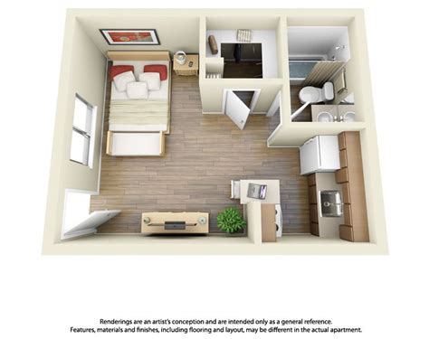a 1 bedroom apartment 10 floor plans studio apartment apartments and 3d