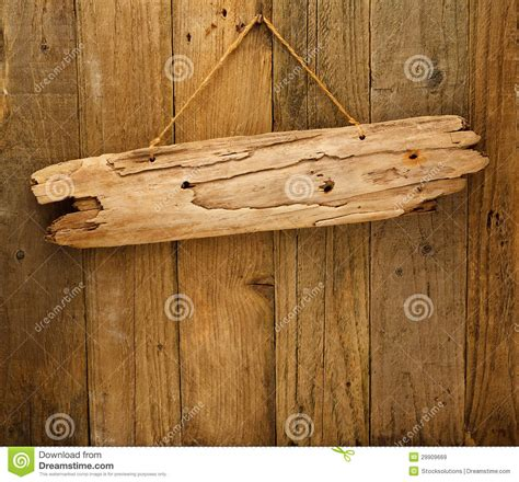 Wood For String - driftwood wooden sign board on string stock image image