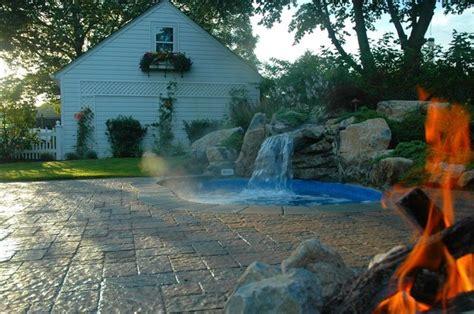 backyard spool backyard quot spool quot with waterfall traditional pool new