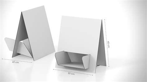 porta volantini porta volantini da banco in cartone stato