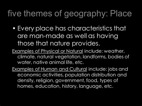 5 themes of geography facts world geography 5 themes of geography ppt download