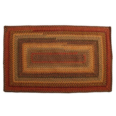 Homespice Primitive Wool Braided Area Rugs Oval Rectangle Rectangular Braided Area Rugs
