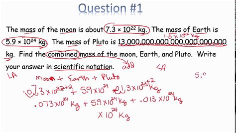 Word Problems Using Scientific Notation Worksheet by Word Problems Scientific Notation In Class 1