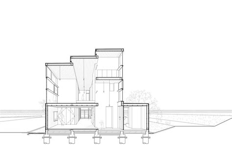 section one house passage of landscape ihrmk archdaily