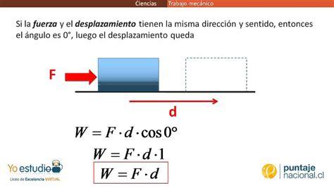 definicion corta de energia f 237 sica trabajo mec 225 nico