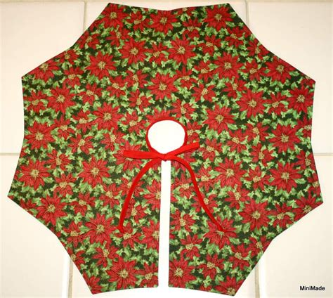 mini christmas tree skirt reversible table top tree skirt