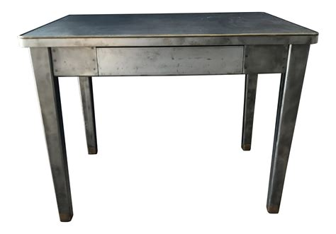 vintage industrial metal desk vintage industrial metal desk chairish