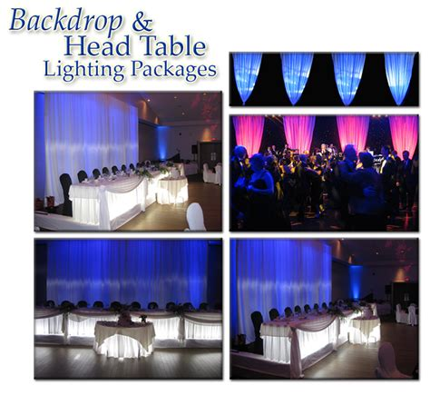 Wedding Backdrop Rental Ottawa by Quality Entertainment Backdrop And Table Lighting