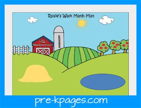 rosies walk math mat preschoolspot education teaching