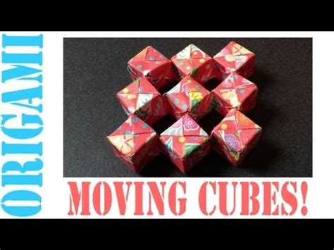 How To Make A Paper Moving Cube - origami daily 239 sonobe moving cube modular no