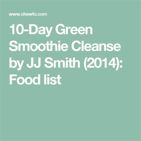 10 Day Detox Breakfast Ideas by 1000 Ideas About Green Smoothie Cleanse On