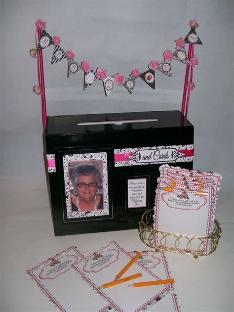 Gift Card Boxes For Parties - 80th birthday party cards memory box 80th birthday party pinter