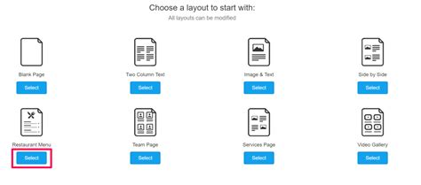 custom page template custom page layout templates support