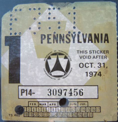 Inspection Sticker Expiration Date