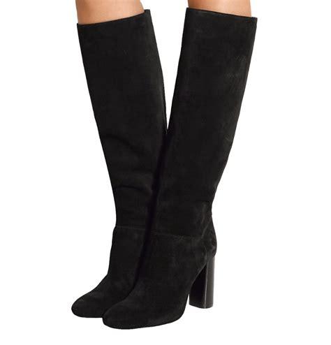 black knee high boots no heel black knee high boots 2016 winter flock toe