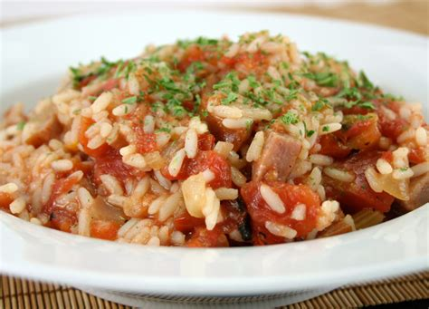 tomato and rice with kielbasa johnsonville com