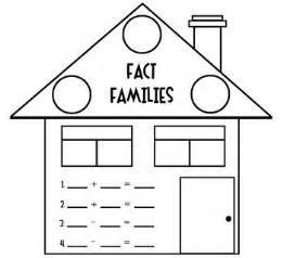 fact families house worksheet worksheets family