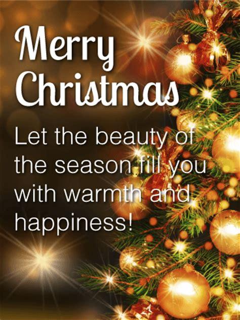 sparkling christmas tree card birthday greeting cards  davia