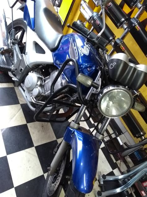 protetor de carenagem twister   pedaleira wr moto