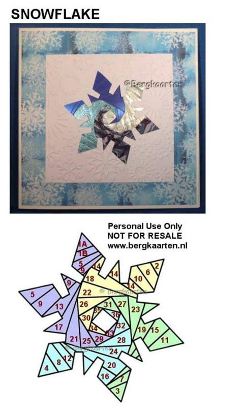 Snowflake Paper Folding - irisvouwen snowflake