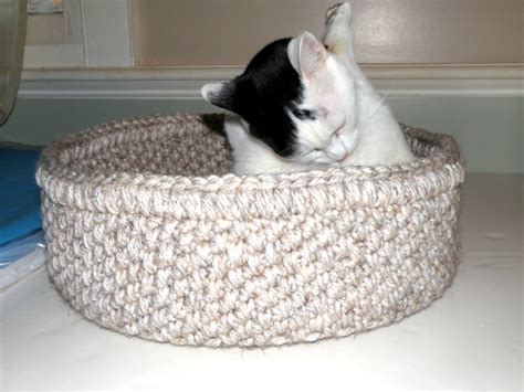 crochet cat bed cat bed crocheted travel pet bed round 2 cat beds in one