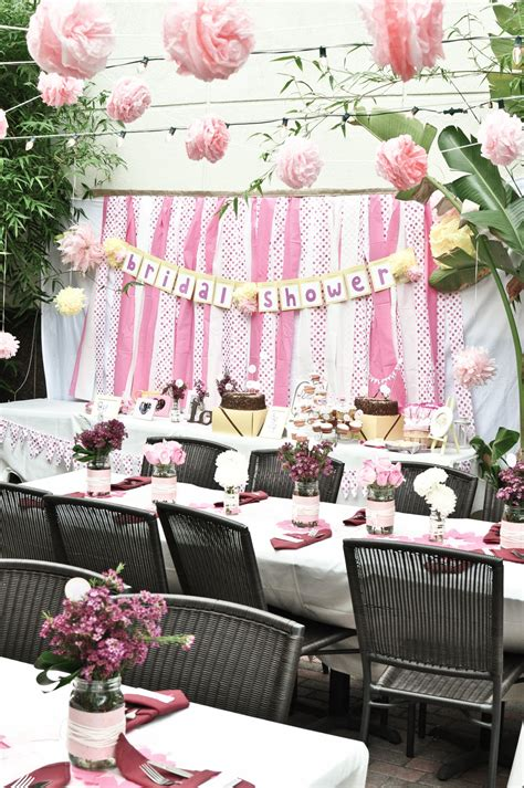 pink white and polka dot hello bridal shower in