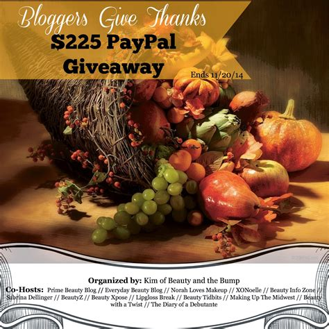 Thanksgiving Sweepstakes - a quot thank you quot thanksgiving giveaway
