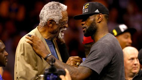 lebron james shares triumphant moment with bill russell